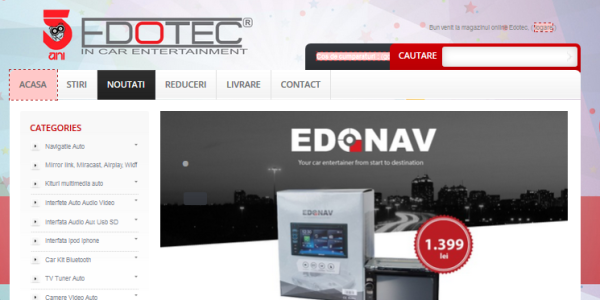 Magazin Edotec, versiunea 2015, platforma prestahsop